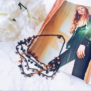 Katherine • Layers of Earth Tiered Stone Necklace